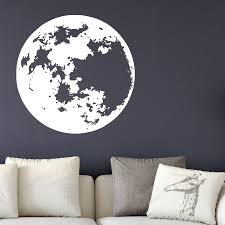 Full Moon Vinyl Decal Wall Decor Dee Cal Frenzy Wall Decor