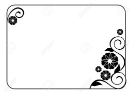 Marco De La Flor Marco Blanco Y Negro Decorativo Con Elementos