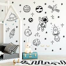 40 Space Decals Stars Wall Decals Planets Wall Decal Rocket Etsy In 2020 Space Decals Star Wall Decals Nursery Decals
