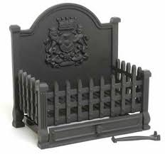 large cast iron dog grate open fire