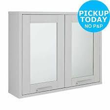 prime 2 door mirrored wall cabinet