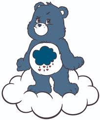 Grumpy Bear Care Bear Cartoons Customized Wall Decal Custom Vinyl Wall Art Personalized Name Baby Girls Boys Kids Bedroom Wall Decal Room Decor Wall Stickers Decoration Size 30x30 Inch