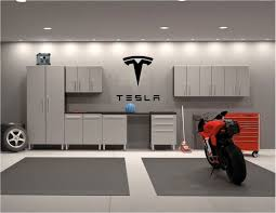 Tesla Logo Garage Wall Decal All Sizes And Colors Etsy