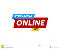 Online Streaming Logo, Live Video Stream Icon, Digital Online Internet TV  Banner Design, Broadcast Button, Play Media Stock Vector - Illustration of  digital, abstract: 120637541