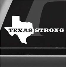 Amazon Com Texas Strong Houston Vinyl Decal Bumper Sticker Lone Star Tx Car Truck Window Sticker Handmade