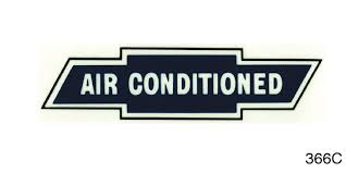 1955 1957 Chevy Air Conditioned Window Decal