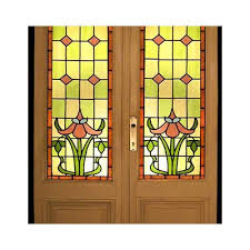 flower stained glass doors at rs 1000