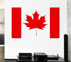 Canada Flag Wall Stickers Symbol Maple Leaf Wall Decor Mural Vinyl Decal Ig005 For Sale Online