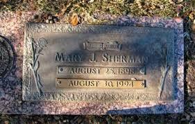SHERMAN, MARY J - Miller County, Arkansas | MARY J SHERMAN - Arkansas  Gravestone Photos