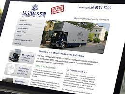 J.A. Steel & Son Website Design | Clinton Smith Design Consultants ...