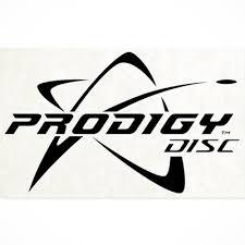 Vinyl Decal Centered Logo Black Prodigy Disc Disc Golf