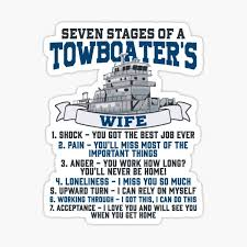 Funny Towboater S Wife Gift Valentines Day Gifts Seven Stages Of A Wife Spouse Sticker By Kntranhoang Redbubble
