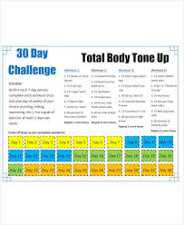 9 30 day workout plan templates pdf