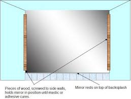 mirror installation without mirror clips