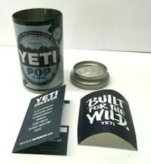 Yeti Pop Top Stash Storage Can With Built For The Wild Decal Sticker New Ebay