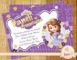Fiesta Ideas Invitaciones De La Princesa Sofia Invitacion