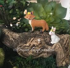 fairy garden fox miniature garden fox