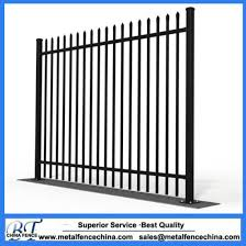 China Black Backyard Force Protection Steel Fence China Steel Fence Powder Coated Steel Fence