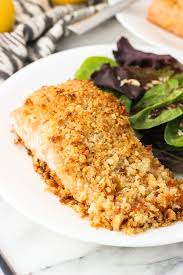 Coconut Macadamia Crusted Salmon