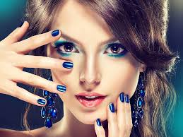 hd wallpaper makeup fashion blue
