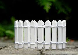 White Picket Fence 2 X 18 Miniature Supply For Etsy