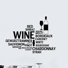Wine Quote Wall Decal Restaurant Bar Art Vinyl Wall Sticker For Dining Room Decor Mural Wall Stickers Aliexpress