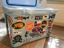 Yeti Cooler With Texas Stickers Yeti Cooler Stickers Yeti Stickers Yeti Cooler