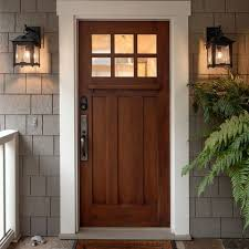 oak exterior front door design ideas