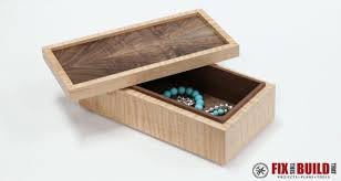 simple wooden jewelry box free plans