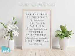 But The Fruit Of The Spirit Galatians 5 Vinyl Decal Wall Art Decor Airetgraphics