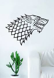 Game Of Thrones House Stark Decal Sticker Wall Vinyl Living Room Bedro Boop Decals