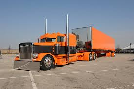 hd wallpaper orange freight truck