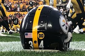 Steelers Don Dd Sticker On Their Helmets In Honor Of The Darryl Drake Behind The Steel Curtain