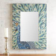 reigning peacock blue mosaic mirror