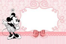 Minnie Vintage Invitacion Y Etiquetas Para Candy Bar Para