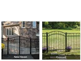 Freedom Aluminum Fencing 4 5 X 6 Ft Panels With Posts Black New Haven 73017848 Sold Theclearanceman