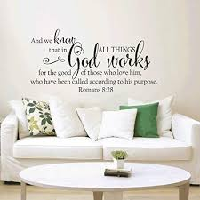 Amazon Com Wall Stickers Art Decal Decor Poster Romans 8 28 Bible Verses Spanish Vinyl Wall Stickers Wall Stickers Decorative Wallpaper 85x42cm Removable Home Living Ceiling Office Window Decoration Mural Kitchen Dining
