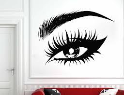 Female Eye Vinyl Wall Decal Eyelashes Lashes Eyebrows Brows Beauty Salon Wall Vinyl Sticker Make Up Window Glass Murals Sl20 Wall Stickers Aliexpress