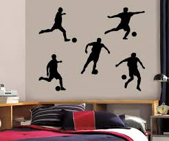 Football Players Wall Sticker Decal Stencil Silhouette St100 Decalz Co