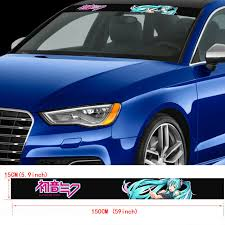 59 Itasha Printed Windshield Car Stickers Hatsune Miku Anime Vinyl Decal Ebay