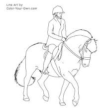 Horse With Saddle Coloring Pages Kleurplaten