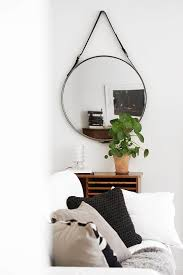leather belt wall mirror mirrors