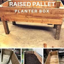 pallet herb planter boxes kruie tuin