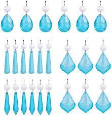 glass crystal teardrop chandelier light