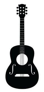 Wall Vinyl Guitar Decal Guitar Illustration Removable Oracle 631 Vinyl Custom Lyric Guitar Illustration Guitar Drawing Silhouette Stencil