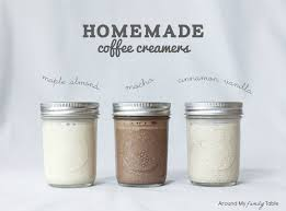 homemade coffee creamers around my
