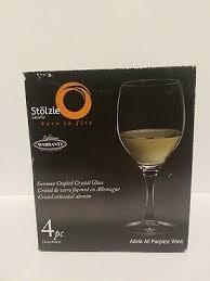 Stolzle Lead-Free Crystal 15oz Adela White Red Wine Glasses Port Germany  76440115208 | eBay