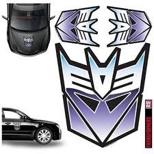 Transformers Decepticon Full Color Car Graphics Set