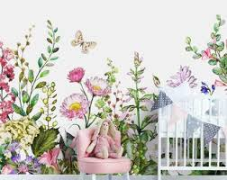 Floral Wall Mural Etsy