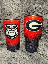 Georgia Bulldog Glitter Tumbler Glitter Tumbler Georgia Bulldog Wreath Georgia Bulldogs